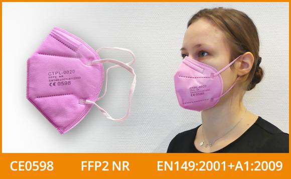 FFP2 Masken (zertifiziert, farbig), rosa