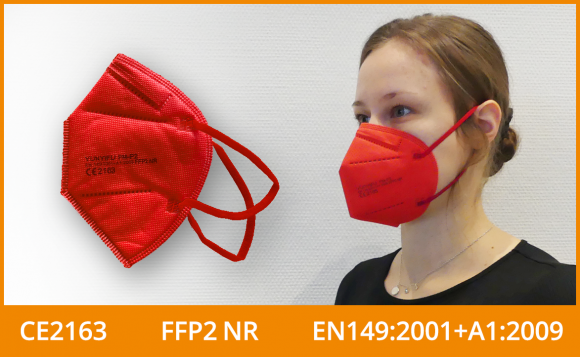 FFP2 Maske (5er Pack), rot