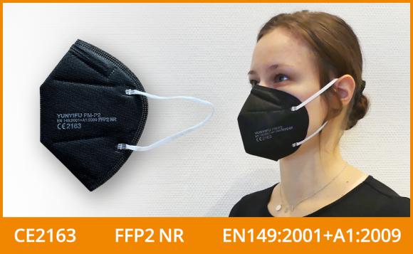 FFP2 Maske (5er Pack), schwarz