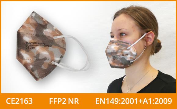 FFP2 Maske (5er Pack), camouflage