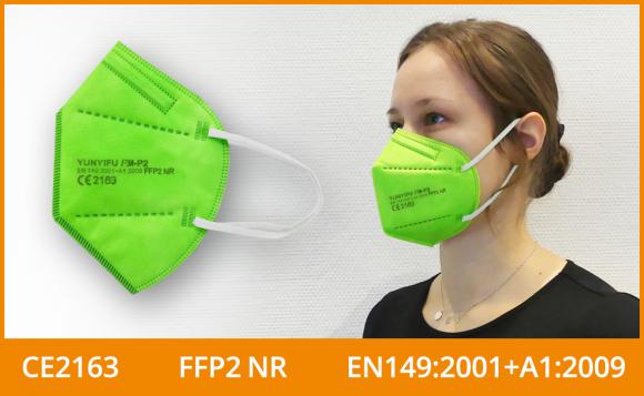 FFP2 Maske (5er Pack), grün