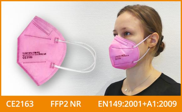 FFP2 Maske (5er Pack), pink